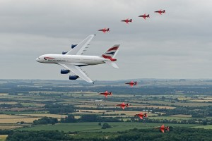 G-XLEA with The Red Arrows